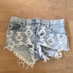 LF Carmar Diamond Jean Shorts